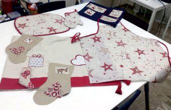 Χριστουγεννιάτικες δημιουργίες στο σεμινάριο Εισαγωγή στη Ραπτική-Μεταποίηση