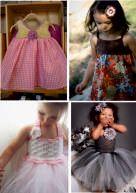 Παιδικά φορέματα με βελονάκι και ύφασμα
